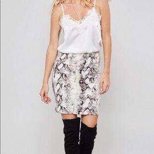 Dresses & Skirts - Snake print skirt